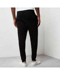 River Island - Black Jaded London Embroidered Joggers - Lyst