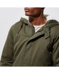 River Island Green Only & Sons Parka Jacket for men