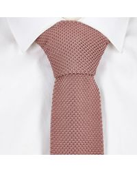 River Island - Pink Knitted Tie for Men - Lyst