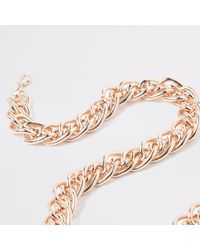 River Island - Multicolor Rose Gold Tone Multilink Necklace - Lyst