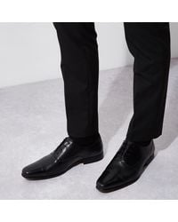 River Island - Black Leather Oxford Shoe for Men - Lyst