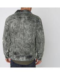 River Island - Gray Grey Acid Wash Oversized Denim Jacket - Lyst