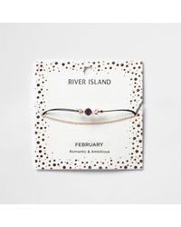 River Island | Purple February Birthstone Chain Bracelet | Lyst