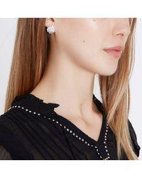 River Island - Metallic Silver Tone Diamante Cluster Stud Earrings - Lyst