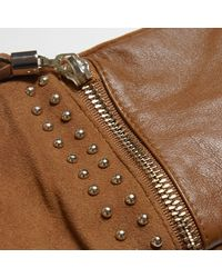 River Island - Brown Tan Suede Tassel Zip Gloves - Lyst