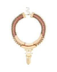 River Island | Metallic Gold Tone Statement Necklace | Lyst