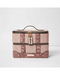 River Island Pink Vanity Case