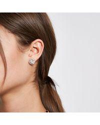 River Island - Metallic Tone Cluster Diamante Dome Stud Earrings - Lyst