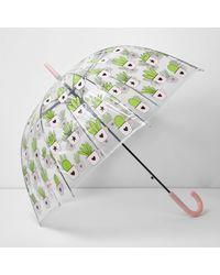 River Island - Multicolor Cactus Print Dome Umbrella - Lyst