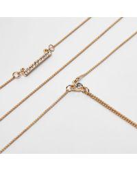 River Island - Metallic Gold Tone Diamante Pendant Layer Choker Set Gold Tone Diamante Pendant Layer Choker Set - Lyst