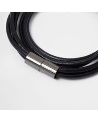 River Island - Black Wrap Around Magnetic Bracelet for Men - Lyst