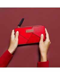 River Island - Red Cutabout Panel Slim Purse - Lyst