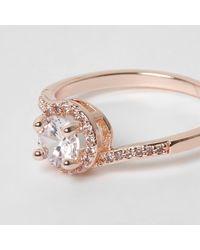River Island - Multicolor Rose Gold Tone Diamante Crystal Ring Rose Gold Tone Diamante Crystal Ring - Lyst