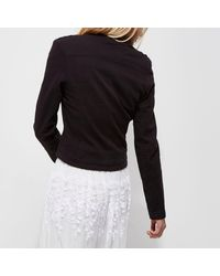 River Island - Black Gold Tone Button Military Jacket - Lyst