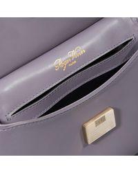 Roger Vivier - Purple Viv' Cabas Mini In Leather - Lyst