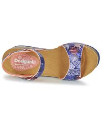 Desigual - Blue Bio 7 Denim Patch Sandals - Lyst
