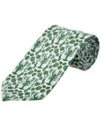 Cole Haan - Green Clam Bake Silk-blend Tie for Men - Lyst