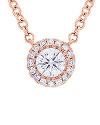 Diana M - Multicolor . Fine Jewelry 14k Rose Gold 0.25 Ct. Tw. Diamond Necklace - Lyst