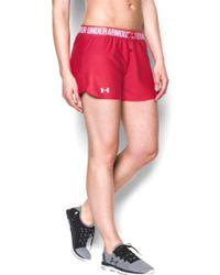 Under Armour Pink Women's Play Up Shorts