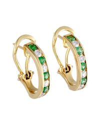 Heritage Tiffany & Co. Metallic Tiffany & Co. 18k 1.06 Ct. Tw. Diamond & Emerald Earrings