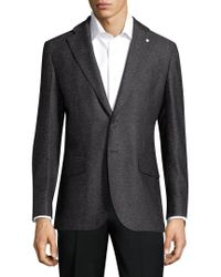 Lubiam - Gray Solid Wool Sportcoat for Men - Lyst