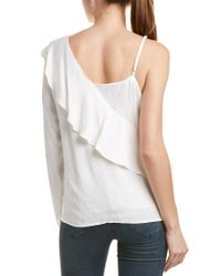 Bardot - White One Frill Top - Lyst