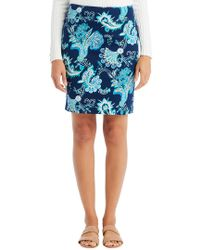 J.McLaughlin - Blue Skirt - Lyst