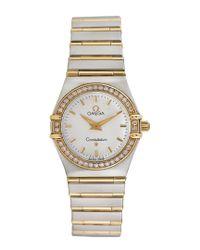 Omega Metallic Omega Women's Constellation Diamond Watch