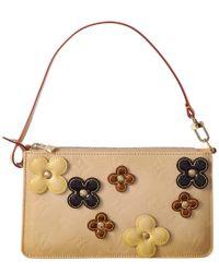 Louis Vuitton - Natural Beige Flower Monogram Vernis Leather Lexington - Lyst