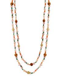 Splendid - Metallic 4-8mm Pearl 72in Necklace - Lyst