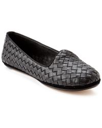 Bottega Veneta - Black Intrecciato Leather Loafers  - Lyst