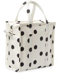 Balenciaga - White Bazar Small Aj Polka Dot Silk Shopper Tote - Lyst