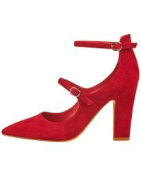 Marc Fisher - Red Kairi Two-strap Pumps - Lyst
