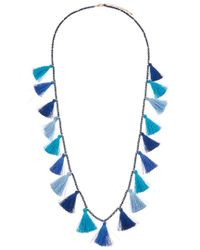 Kenneth Jay Lane - Multicolor Plated Seed Bead Necklace - Lyst