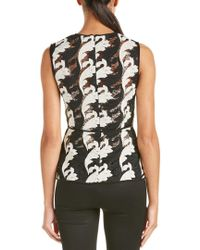 Yigal Azrouël - Black Lace Button Down Top - Lyst