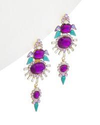 Zenzii - Multicolor Crystal Angel Wing Drop Earrings - Lyst