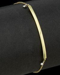 Meira T - Black 14k Two-tone 0.02 Ct. Tw. Diamond Bar Bracelet - Lyst