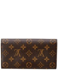 Louis Vuitton Brown Monogram Canvas Sarah Wallet