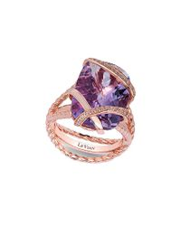 Le Vian - Multicolor ® 14k Rose Gold 10.91 Ct. Tw. Diamond & Amethyst Ring - Lyst