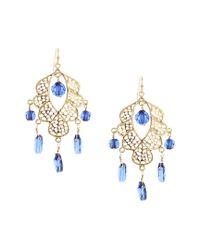 Sparkling Sage - Metallic 14k Plated Resin Chandelier Earrings - Lyst