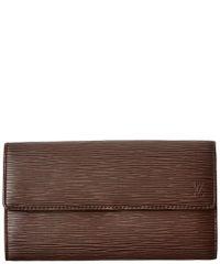 Louis Vuitton Brown Epi Leather Sarah Wallet