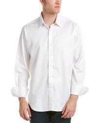 Robert Graham White Bank Junction Classic Fit Woven Shirt for men
