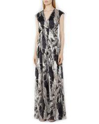 Reiss - Black Lin Maxi Dress - Lyst