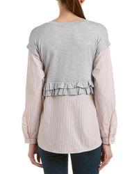 Kensie Gray Drift Sweatshirt