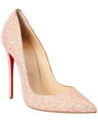 Christian Louboutin - Pink So Kate 120 Glitter Pump - Lyst