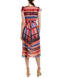 Catherine Malandrino - Blue Midi Dress - Lyst