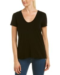 Splendid - Black T-shirt - Lyst