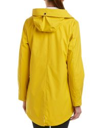 French Connection - Yellow Storm Flap Slicker Raincoat - Lyst