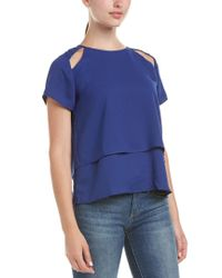 19 Cooper - Blue Cut-out Top - Lyst