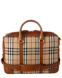 Burberry - Brown Newburg Horseferry Check Briefcase - Lyst